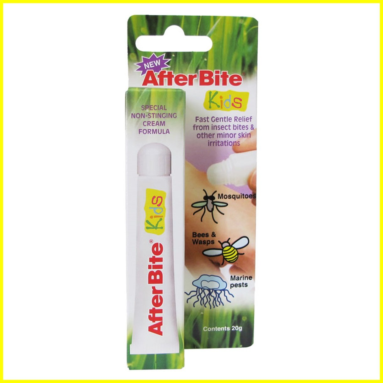AfterBite KIDS Classic - Fast Gentle Relief from Insect Mosquito After Bite & other minor skin irritations - 1 ITEM 20g 021127-3