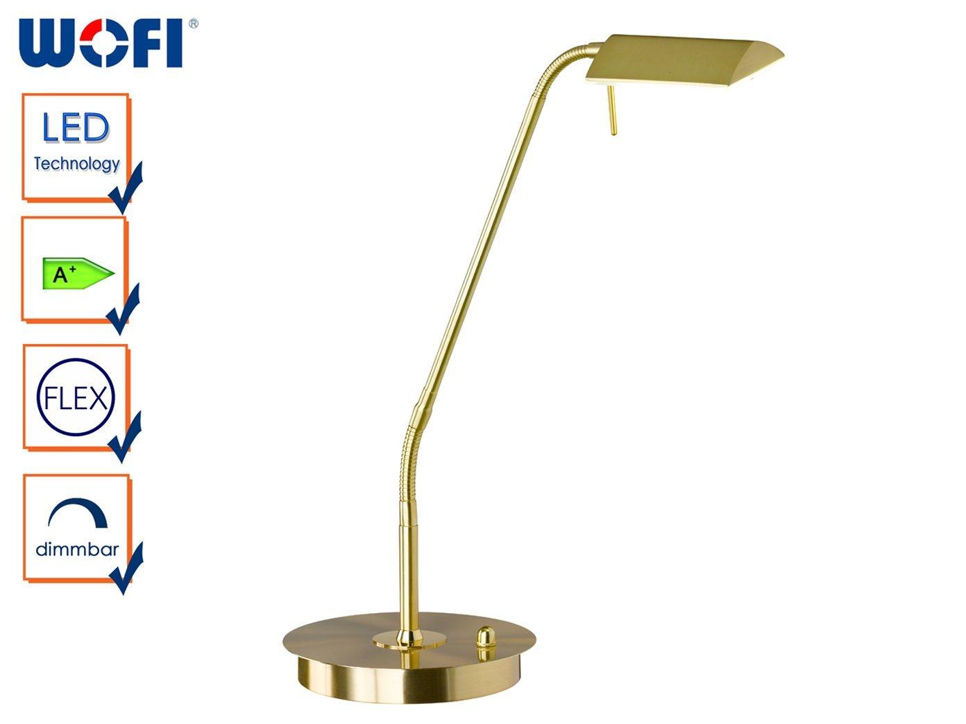Messing-matt Metall 8 W WOFI Standleuchte Integriert