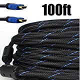 Best Hdmi Cable For Tv 100 Fts - Premium Braided Nylon HDMI Cable Gold Series High Review