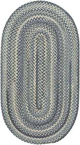 Capel Rugs Tooele Braided Oval Area Rug, Blue Jean, 7' x 9' ()