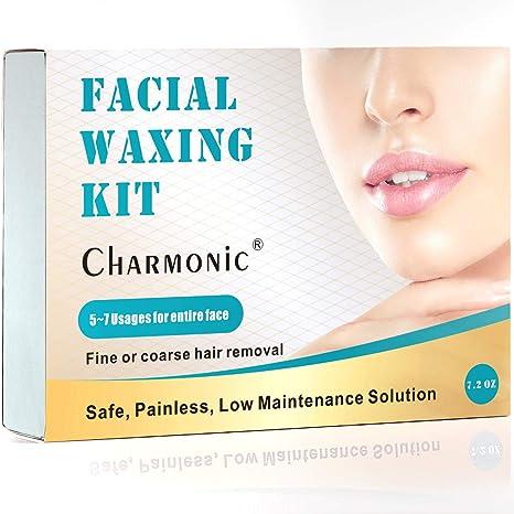 Cera de eliminación de vello facial para mujeres, quita el vello ...