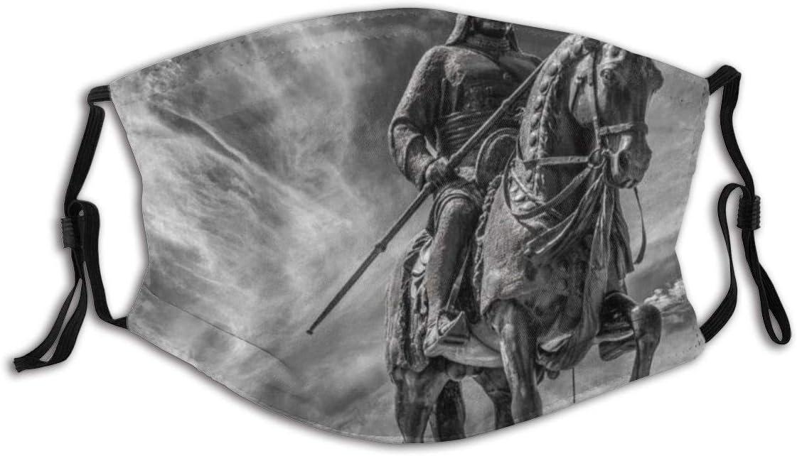 Gesichtsschutz Mundschutz Antike Fighure Liner Antike Messing Krieg Zeiten Krieger Soldat Skulptur Ritter Wiederverwendbarer Nasenschutz Waschbar staubdicht gegen Verschmutzung Mit Filtern