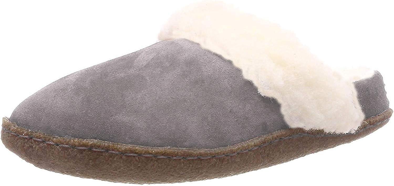 Sorel Women's Nakiska Slides II Slippers, Quarry/Natural, Grey, 7 Medium US
