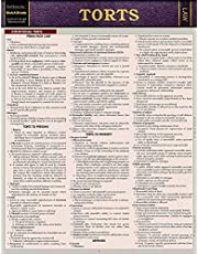 Torts: QuickStudy Laminated Reference Guide (Law: Quick Study)