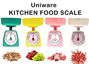UNIWARE 8508 Mini Dial Kitchen Food Scale (Assorted Colors)(Capacity: 5kg/ 11lb), No Battery, Medium, Pink, White, Yellow,Green