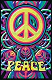"Peace Sign Blacklight Poster 24""x36"" Art Print Poster"