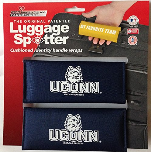 Luggage Spotter BUY ONE GET ONE FREE! UCONN Luggage Locator/Handle Grip/Luggage Grip/Travel Bag Tag/Luggage Handle Wrap (4 PACK) – CLOSEOUT! ONLY A FEW SETS LEFT! by Luggage Spotter