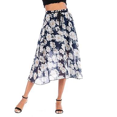 Sylar Faldas De Tul Mujer Faldas Midi Mujer Casual Cintura Alta ...
