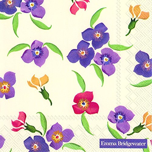 Emma Bridgewater 20 Paper Luncheon Napkins Wallflower floral 33 cm square by Emma - Bridgewater Shopping In