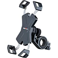 Grefay Bike Phone Mount Metal Motorcycle Smartphone Holder for Handlebar Cradle Clamp with 360 Rotate 4.0-7.0 inch…