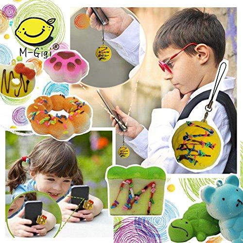 M-Gigi Random Squishy Cream Scented Slow Rising Kawaii Simulation Bread Children Toy, Soft Squishy Cake/Panda/Bread/Buns Phone Straps, Jumbo/Medium/Mini, 20 Piece by M-Gigi (Image #4)