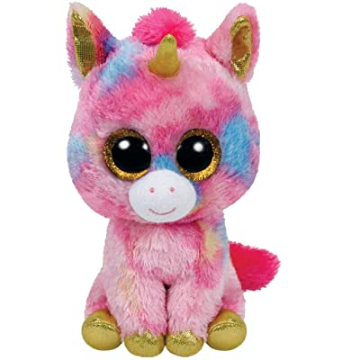 "Ty Beanie Boo Fantasia The Colorful Unicorn 10"" Medium Size: Toys & Games"