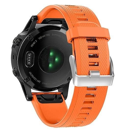 3 opinioni per Vicara Garmin Fenix 5strap Quickfit 22mm larghezza morbido silicone orologio