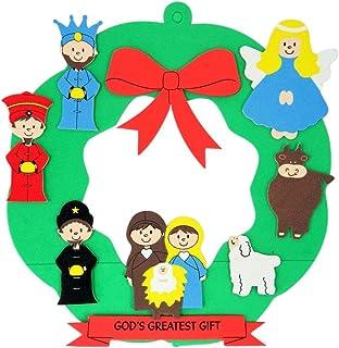 Adorable Sticker Sheets Craft for Stocking Stuffers Handouts. FAVONIR Christmas Nativity Sticker Assortment Set Kids Fun and Educational Pack 24 Pack