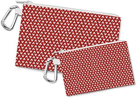 Mickey Mouse lunares rojo lienzo bolsa Zip - multiusos ...