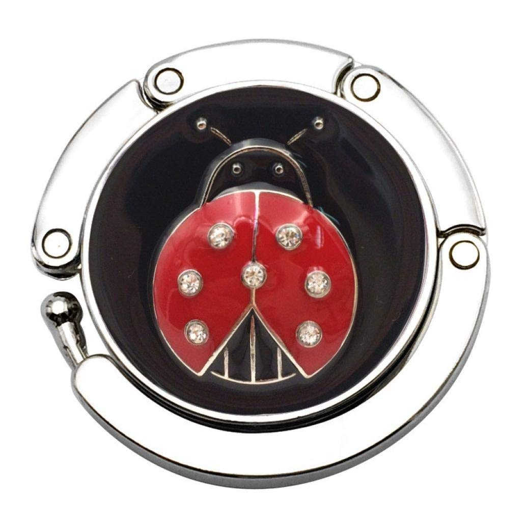 Yevison Fashion Butterfly Beetle Folding Hanger Holder Table Hook for Purse Handbag Beetle -Red+Black Durable and Practical by Yevison