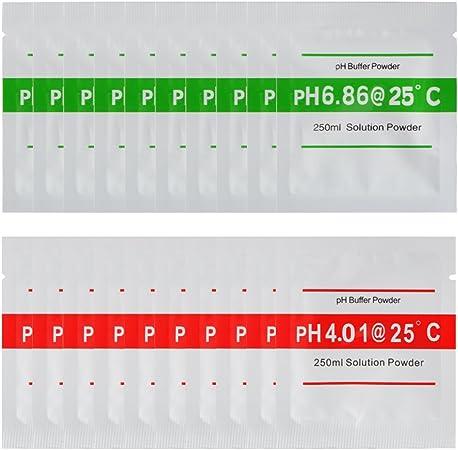 20-pack 4.01 6.86 pH Meter Buffer Solution Powder for Easy PH Calibration BI672