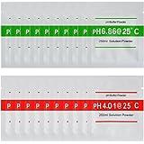 XCSOURCE® 20pcs 4.00 6.86 pH Meter Búfer Solución en Polvo para Calibración Rápida y Fácil de pH Agua Pureza BI672