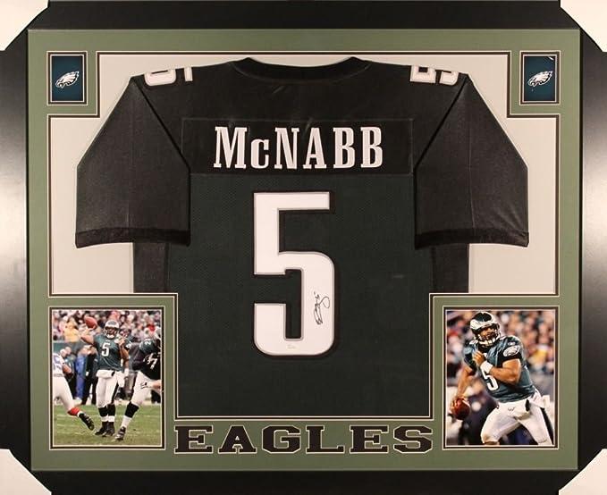 Donovan McNabb Signed Eagles 35x43 Custom Framed Jersey (JSA COA) Syracuse Univ.