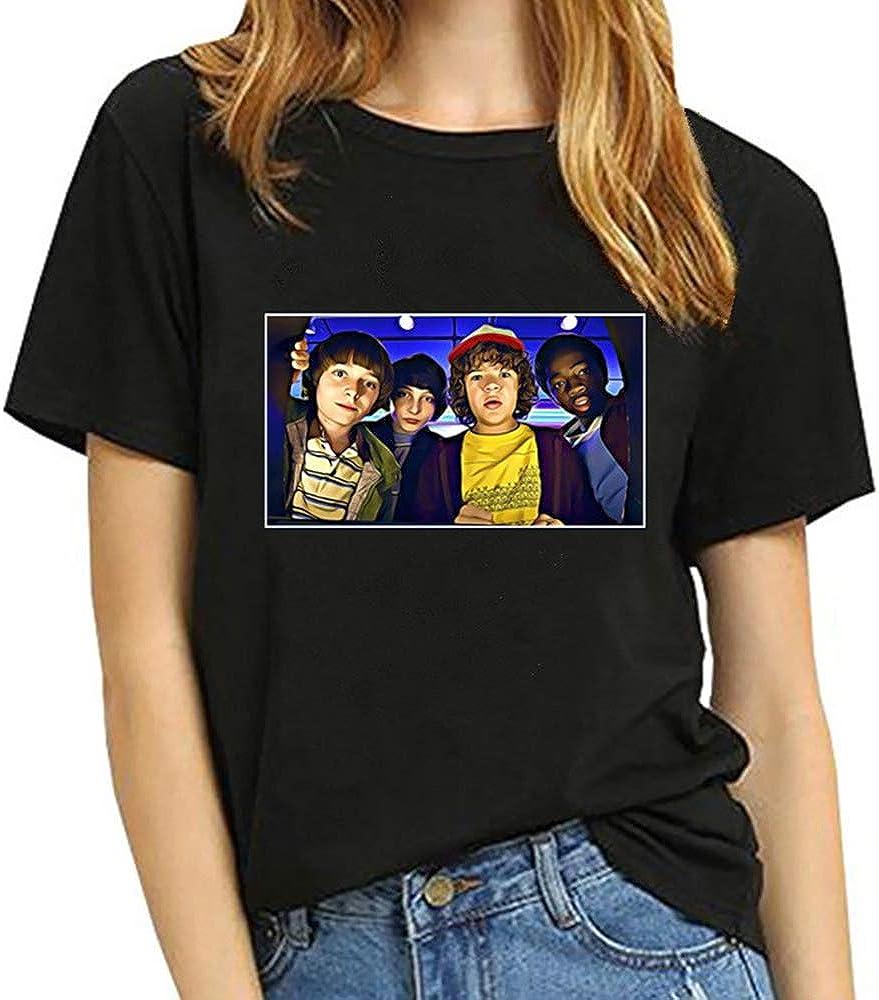 Fittrame Stranger Things T Shirt Season 3 Womens Stranger Things Print Shirt Girls Horror Sci-Fi Thriller Printed Tee Shirt Letter Print Inspired Design Summer Top Shirt Tee T-Shirt Blouse Sales