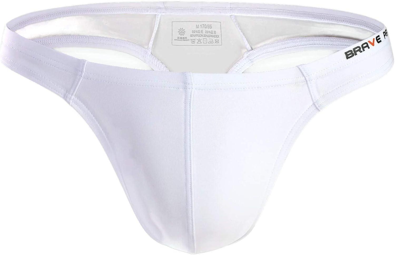 BRAVE PERSON Men's Sexy Thong Underwear Low Rise Bikini T-Back G-String