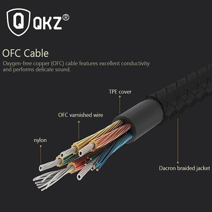 QKZ X5 Metal auriculares in-ear Bass auriculares con micrófono para teléfono DJ música auriculares HIFI Super Bass auriculares: Amazon.es: Electrónica