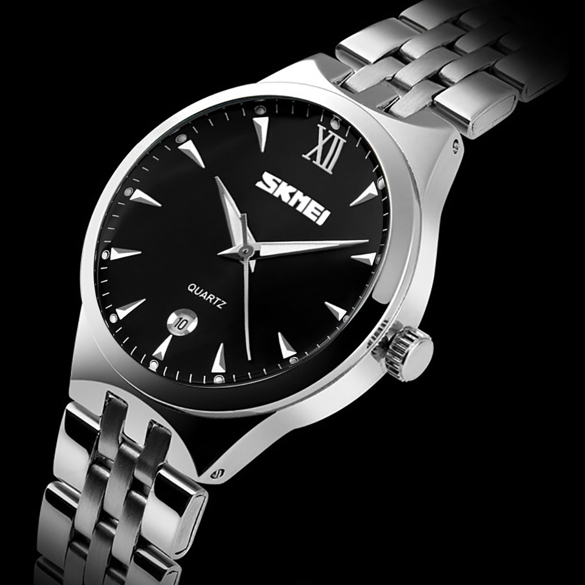 MODIWEN Men\'s Quartz Watch Analog Business Wrist Watch with Date and Stainless Steel Strap