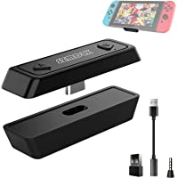 SZMDLX Type C/USB Bluetooth 5.0 Audio Transmitter Adapter for Nintendo Switch, Switch Lite, PS4, PC, Plug & Play, Low…