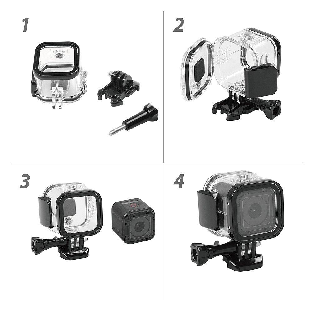 60m Underwater Waterproof Diving Housing Case for GoPro Hero4 Session HERO 5 SESSION HERO SESSION Camera by Aoprofree