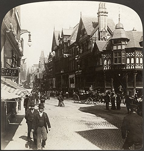 (England Chester C1902 NThe Rows Eastgate Street Chester England Stereograph C1902 Poster Print by (24 x)