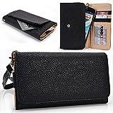 All Black Lava Pixel V2, Flair Z1, Icon, Lemon P105 Case   Cell phone Wallet & Wristlet for Women