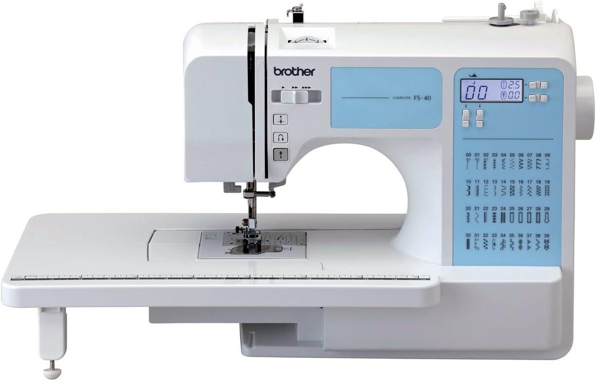Brother máquina de coser FS40 con mesa de extensión – blanco: Amazon.es: Deportes y aire libre