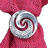 Luxury Fine Pewter Maori Koru Spiral Scarf Ring, Handcast by William Sturt