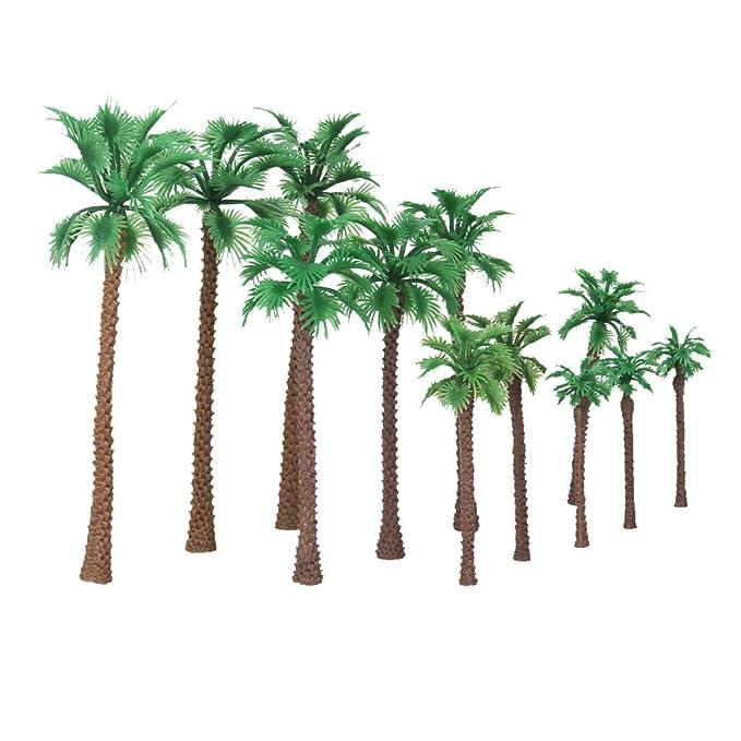 Gazechimp 12 Stück 1:65 - 1: 150 Palm Baum Dekor Bäume 6-11cm für ...