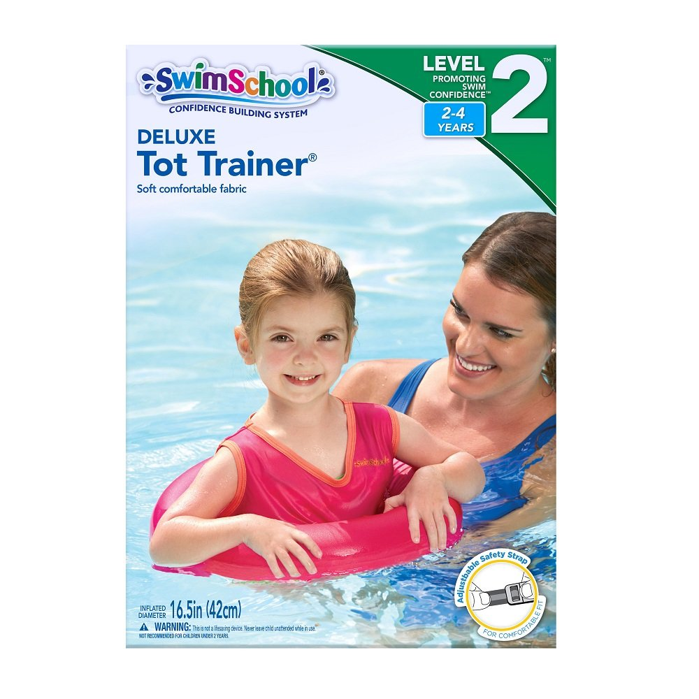 SwimSchool Deluxe TOT Swim Trainer Vest, Heavy Duty, Inflatable Tube with Adjustable Safety Strap, 2-4 Years, Raspberry/Pink by SwimSchool (Image #5)