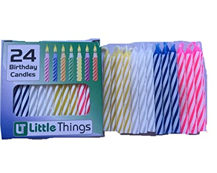 Adoria Birthday Candle Bulk 24 Boxes Of 576 Candles Otal Dia02x24inch Spiral Multi Color Amazonca Home Kitchen