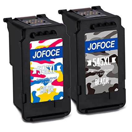 Jofoce Remanufacturado Canon PG-545XL CL-546XL Cartuchos de tinta (1 Negro 1 tricolor), Compatible con Canon Pixma MG2450 MG2550S iP2850 MX495 MG3050 ...
