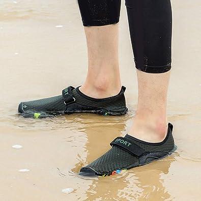 Herren Damen Neoprenschuhe Wasserschuhe Badeschuhe Aquaschuhe Mesh Schuhe 35-46