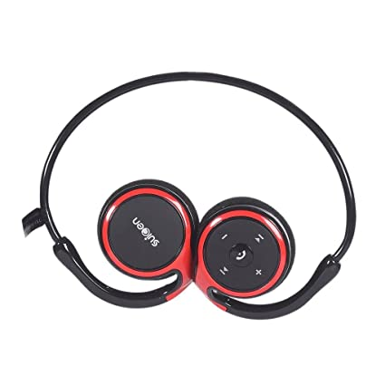 Auriculares Bluetooth, Kool(TM) Rojo Auriculares Deportivos Diadema con micrófono y cancelación de