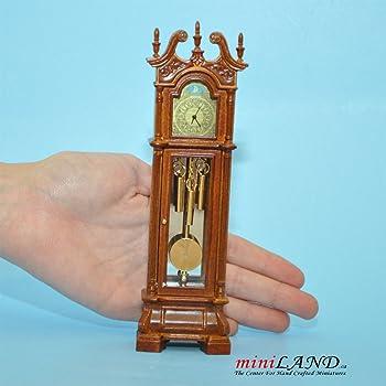 Amazon Com Working Dollhouse Miniature Grandfather Clock V4010c