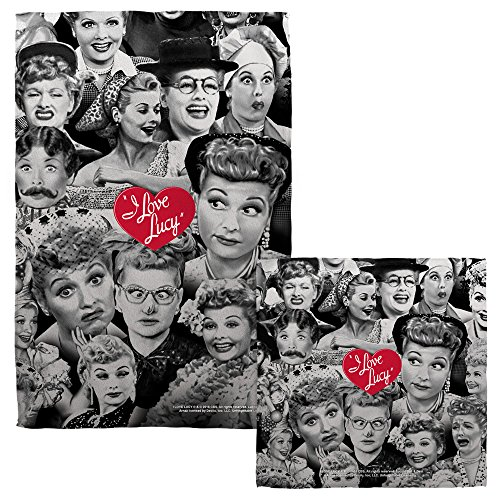 Towel Lucy Love I (I Love Lucy Sitcom TV Series Retro Faces Face & Hand Towel)