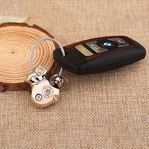 CS Bouton principal de sac en métal de porte-clés pour les accessoires masculins et femelles d'anneau de chaîne de porte-monnaie de porte-monnaie ( Color : Gold )