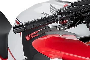 Negra de freno y palanca de embrague Puig zB Ducati Monster 1100 (M5) 2009 - 2010 pliegues y extensible con versteller roja y roja schiebee lement: ...