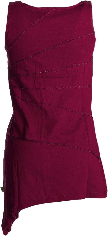 Vishes Alternative Bekleidung Asymmetrisches zipfeliges Patchwork Elfenkleid Organic Cotton