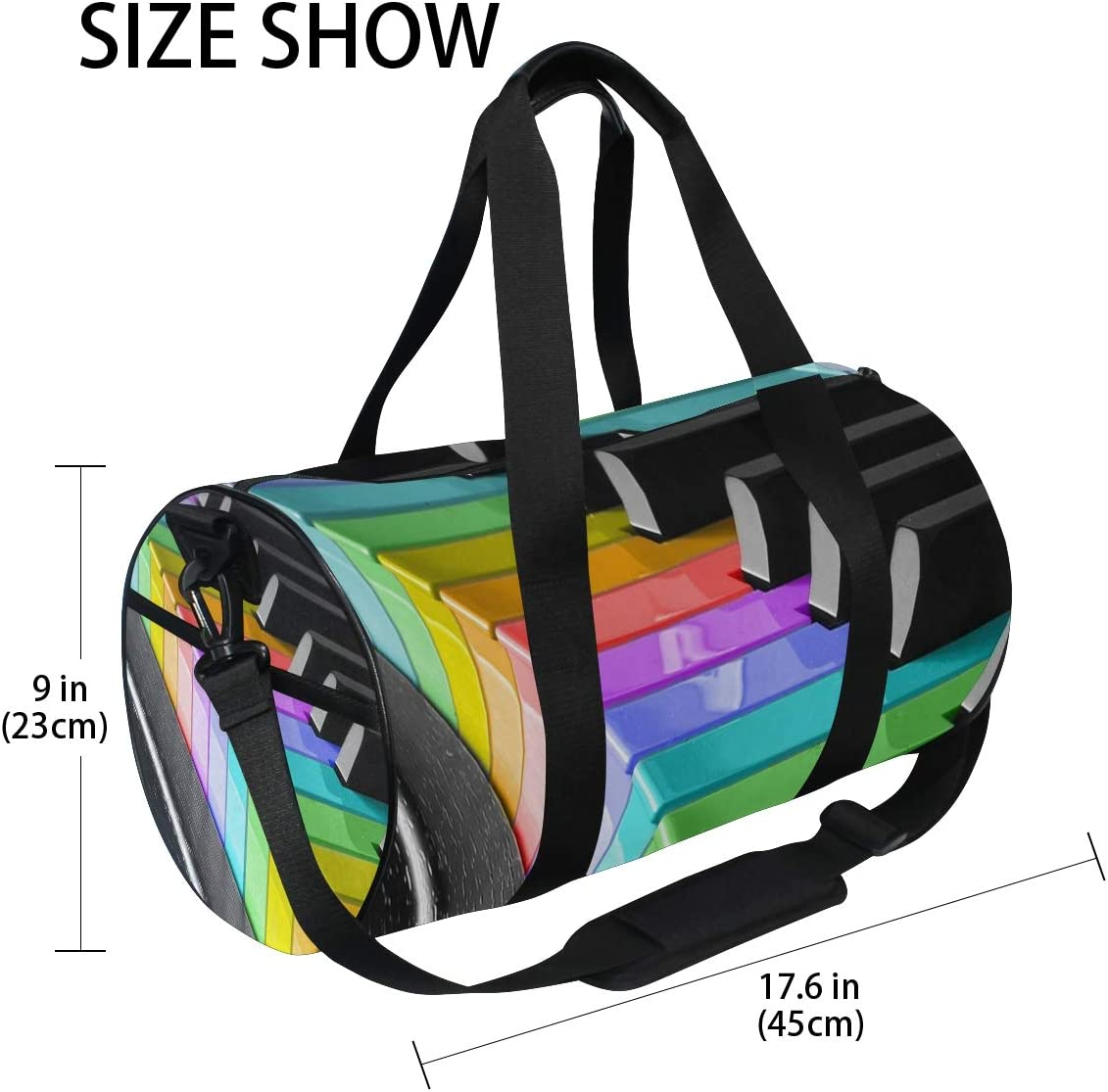 Duffel Bag Rainbowified Women Garment Gym Tote Bag Best Sports Bag for Boys