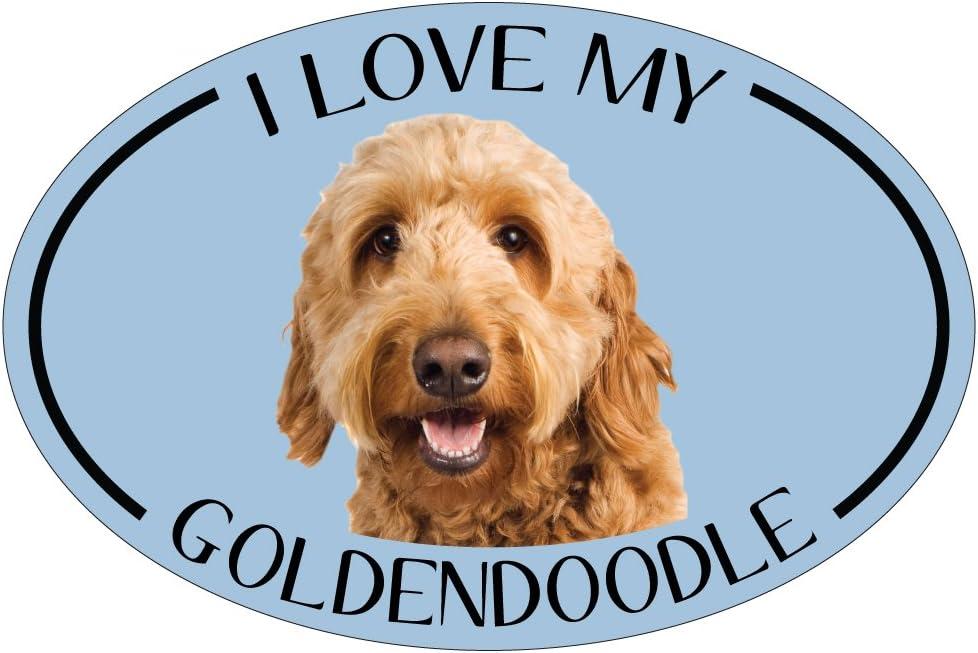 I Love My Sheltie Oval Dog Breed Picture Car Magnet Shetland Sheepdog