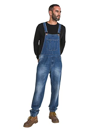 c7be96b6dd2 Image Unavailable. Image not available for. Color  USKEES Christopher Men s  Bib Overalls - Stonewash Denim Dungarees