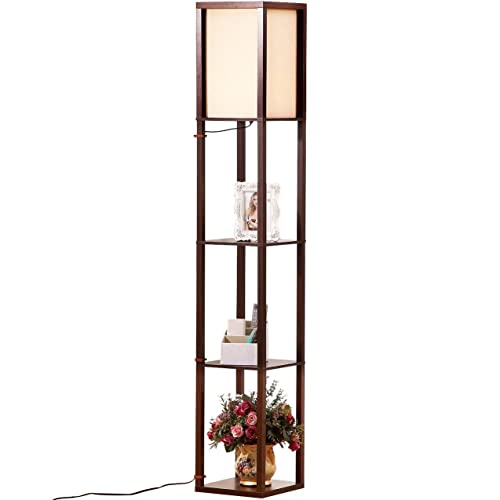 Brightech Maxwell   LED Shelf Floor Lamp   Modern Standing Light For Living  Rooms U0026 Bedrooms
