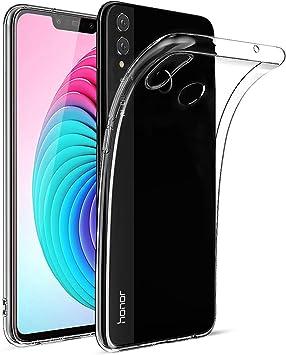BENNALD Funda Huawei Honor 8X Transparente, TPU Silicona Funda ...