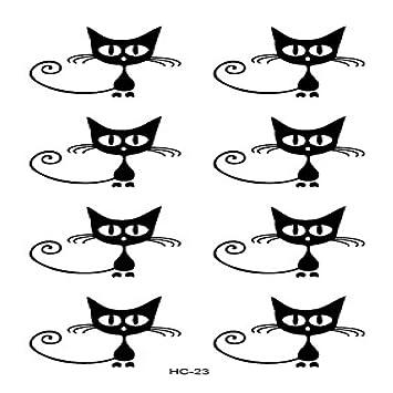 Pegatinas de tatuaje Gato inglés estrella de cinco puntas diamante ...